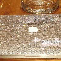 Bling and Stylish MACBOOK Pro / Air / Retina White Crystal 11inch or 13inch or 15inch CASE / COVER - Horizontal pattern - ZoeCrystal