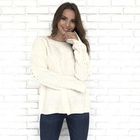Tie It Together Sweater in Ivory
