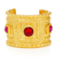 Gold-Plated Crystal Cuff | Moda Operandi