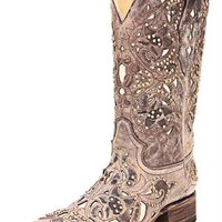 Corral Vintage Bone Inlay Cowgirl Boots