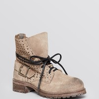 Jeffrey Campbell Ankle Boots - Perforated Lace Up Combat