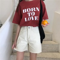 High Waist Denim Shorts for Women Summer Casual Jeans Short Vintage Femme Short Jeans Mujer WS6295