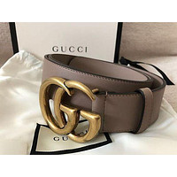 Gucci gg Marmont smooth buckle belt