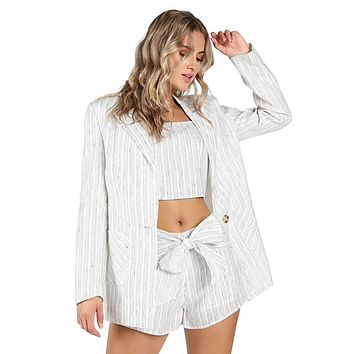 Oversized Stripe Blazer