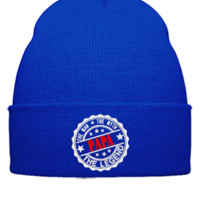 Papa - The Man The Myth The Legend embroidery hat - Beanie Cuffed Knit Cap