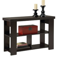 Contemporary Sofa Table in Espresso Brown Wood Finish
