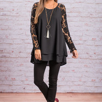 Point Of Perfection Top, Black