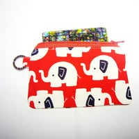 women wallet, zippy case, coin purse, Elephant, id1340473, jogging accessories, id lanyard zipper pouch, red, gadget case, gift for her