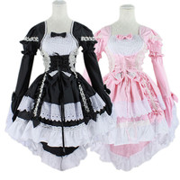 Hot Sale Anime Fantasy Maid Cosplay Costume Lolita Dress Halloween Performance Costume For Women Disfraces HB88