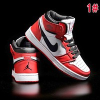 New Nike AIR JORDAN 1 Fashionable Women Men High Top Sport Running Shoes Sneakers 1#