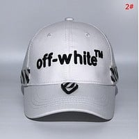 Off White New fashion embroidery letter couple cap hat 2#