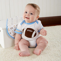 """""""Tiny Touchdown"""" 3 Piece Football-Themed Layette Set"""