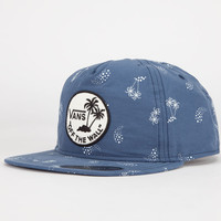 Vans Dual Palm Island Mens Snapback Hat Navy One Size For Men 24182821001
