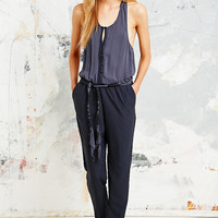 Free People Rayon Angelic Romper in Navy - Urban Outfitters