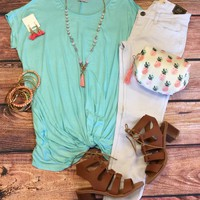 Knotted Top: Mint