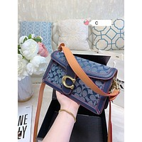 COACH New fashion pattern print canvas handbag shoulder bag crossbody bag