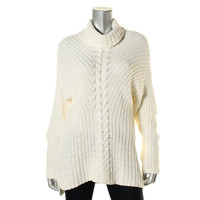 Kensie Womens Cable Knit Cowl Neck Pullover Sweater