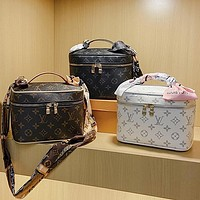 Louis Vuitton fashion printed casual ladies large capacity make-up bag handbag one shoulder cross-body bag