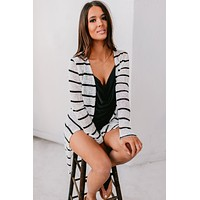 Could Be Fun Striped Cardigan (White)