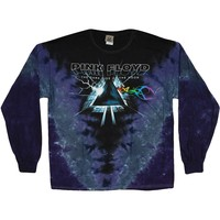 Pink Floyd Men's  Dark Side Vortex Tie Dye  Long Sleeve Purple