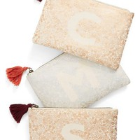 Nordstrom at Home Monogram Zip Pouch | Nordstrom