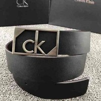 CK Fashion Smooth Buckle Belt Leather Belt
