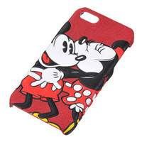 Mickey & Minnie Mouse iPhone 5 5S Fake Leather Cover Case Disney Store JAPAN