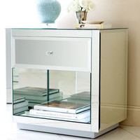 Hannah Mirrored One Drawer Bedside Table