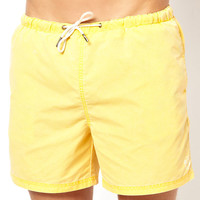 River Island | River Island Yellow Sulphur Swim Short at ASOS