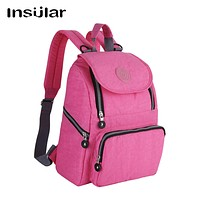 INSULAR Fashion Mummy Maternity Diaper Backpack Brand Baby Nappy Bag Travel Backpack Nursing Bag for Baby Care