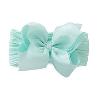 Starting Out Organza Grosgrain Layer Bow - Mint