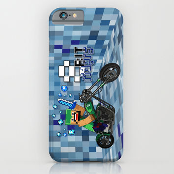 8bit Rider iPhone 4 4s 5 5c 6, pillow case, mugs and tshirt iPhone & iPod Case by Three Second