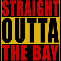 Straight Outta The Bay Gold Red by straightoutta