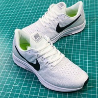 Wmns Nike Air Zoom Pegasus 35 White Black Sport Running Shoes - Best Online Sale
