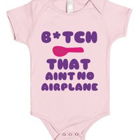 Ain't no Airplane (pink)-Unisex Light Pink Baby Onesuit