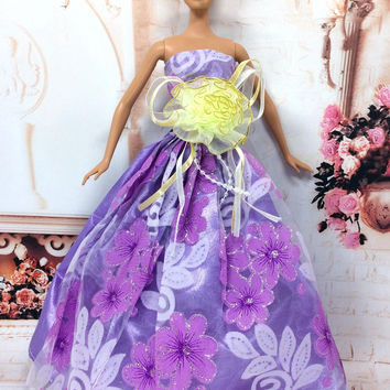 NK One Pcs 2016 Princess Wedding Dress Noble Party Gown For Barbie Doll Fashion Design Outfit Best Gift For Girl' Doll 021A