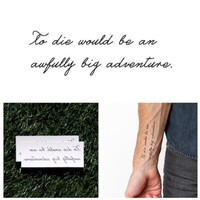 Tattify Quote Temporary Tattoo - Neverland (Set of 2) - Other Styles Available - High Quality and Fashionable Temporary Tattoos