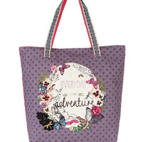 Every Day Is An Adventure Shopper Bag   Purple   Accessorize