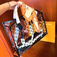 LV Transparent color super fire Onthego large shopping bag high quality
