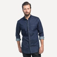 Slim Denim Shirt in Raw Indigo