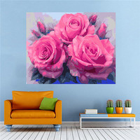 Sweet Rose Dimensions DIY Paint By Number Kit On Canvas Bedroom Living Room Home Decor