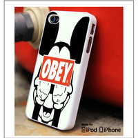 Obey Mickey Mouse Samsung Galaxy S3 S4 S5 Note 3 4 Case, iPhone 4S 5S 5c 6 Plus Case, iPod 4 5 Case