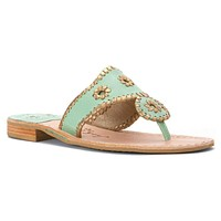 Nantucket Gold Sandal in Mint and Gold by Jack Rogers