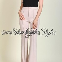 Courtney Taupe Wide Leg Pants