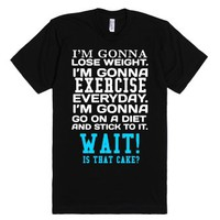 I'm gonna workout gym tank top tee t shirt-Unisex Black T-Shirt