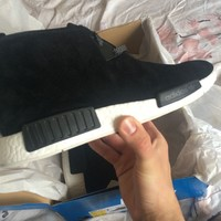 Adidas NMD Chukka C1 Authentic Black Suede Size US 11.5 New With Receipt