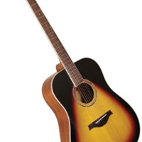 Wood Song D-TSB Dreadnought Solid Sitka Top Acoustic Guitar w/ Bag - Tobacco Sunburst