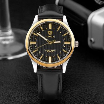 YAZOLE 357siness Men Wrist Watch Male Quartz Wristwatches