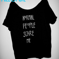 American Horror story inspired dot NORMAL PEOPLE scare me flowy shirt regular and plus size available