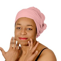 🎁 ONE DAY SALE Novarena Baby Pink Solid Color Head Wrap Stretch Long Hair Scarf Turban Tie Kente African Hat Jersey Knit Headwrap